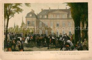 AK / Ansichtskarte Reichshofen_Elsass Abmarsch MacMahons mit seinem Generalstab nach Woerth vor der Schlacht 1870 Reichshofen Elsass