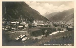 AK / Ansichtskarte Gaschurn_Vorarlberg mit Valluela Gaschurn Vorarlberg
