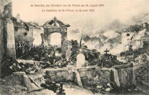 AK / Ansichtskarte Saint Privat d_Allier Kirchhof von St Privat am 18. August 1870 Saint Privat d Allier