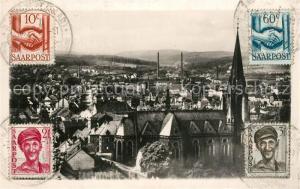 AK / Ansichtskarte St_Ingbert Stadtzentrum und Josefskirche St_Ingbert