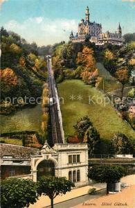AK / Ansichtskarte Luzern_LU Guetschbahn und Hotel Guetsch Luzern_LU