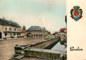 AK / Ansichtskarte Saulieu Les Hotels de la Cote d'Or et de la Poste Saulieu