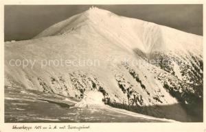 AK / Ansichtskarte Schneekoppe_Snezka Riesengrund Winter Schneekoppe Snezka