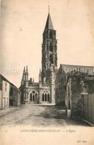 AK / Ansichtskarte Saint Pere sous Vezelay Eglise Saint Pere sous Vezelay
