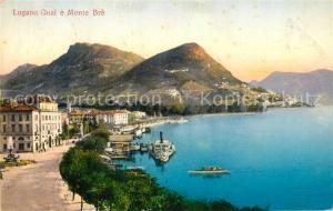 AK / Ansichtskarte Lugano_Lago_di_Lugano Quai Monte Bre Lugano_Lago_di_Lugano