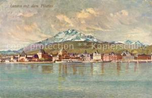 AK / Ansichtskarte Luzern_Vierwaldstaettersee Panorama Pilatus Luzern_Vierwaldstaettersee