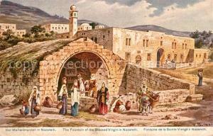 AK / Ansichtskarte Nazareth_Illit Marienbrunnen Kuenstlerkarte Nazareth Illit