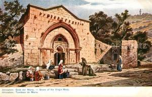 AK / Ansichtskarte Jerusalem_Yerushalayim Grab der Marie Jerusalem_Yerushalayim