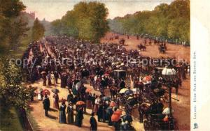 AK / Ansichtskarte London Hyde Park Rotton Row London