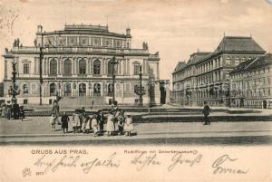 AK / Ansichtskarte Prag_Prahy_Prague Rudolfinum Gewerbemuseum Prag_Prahy_Prague