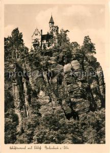 AK / Ansichtskarte Bodenbach Tetschen_Boehmen Schaeferwand Schloss Bodenbach Tetschen Boehmen