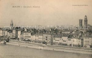 AK / Ansichtskarte Macon_Saone et Loire Les Quais et vue sur la ville Macon Saone et Loire