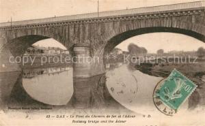 AK / Ansichtskarte Dax_Landes Pont du Chemin de fer et l Adour Dax_Landes