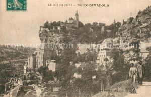 AK / Ansichtskarte Rocamadour Vue partielle et le chateau Rocamadour