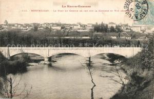 AK / Ansichtskarte Montrejeau_Haute Garonne Pont du Chemin de fer sur la Garonne et vue generale Montrejeau Haute Garonne