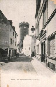 AK / Ansichtskarte Vichy_Allier Rue Porte France et vieille tour Vichy Allier