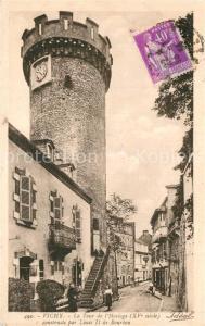 AK / Ansichtskarte Vichy_Allier Tour de l Horloge XVe siecle contruite par Louis II de Bourbon Vichy Allier