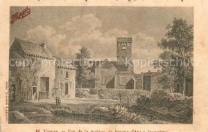 AK / Ansichtskarte Domremy la Pucelle_Vosges Maison de Jeanne d Arc Dessin Kuenstlerkarte Domremy la Pucelle_Vosges
