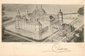 AK / Ansichtskarte Tanlay Chateau pris a vol d oiseau Dessin Kuenstlerkarte Tanlay