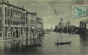 AK / Ansichtskarte Venezia_Venedig Canal Grande Chiesa della Salute e Palazzo Cavalli Venezia Venedig