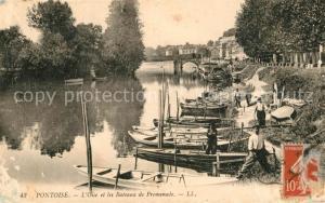 AK / Ansichtskarte Pontoise_Val d_Oise Bateaux de Promenade