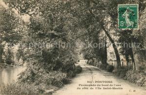 AK / Ansichtskarte Pontoise_Val d_Oise Promenade Ile Saint Martin