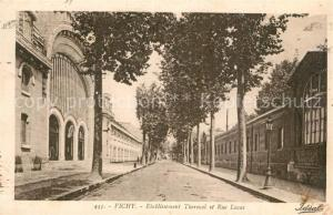 AK / Ansichtskarte Vichy_Allier Etablissement Thermal et Rue Lucas Vichy Allier