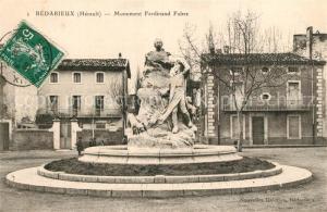 AK / Ansichtskarte Bedarieux Monument Ferdinand Fabre Bedarieux