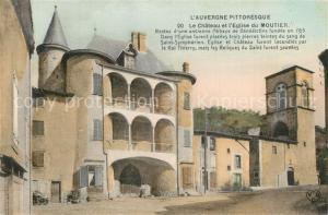 AK / Ansichtskarte Bessay sur Allier Chateau et l Eglise du Moutier Bessay sur Allier