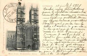AK / Ansichtskarte London West Front Westminster Abbey London