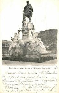 AK / Ansichtskarte Torino Monumento a Giuseppe Garibaldi Torino