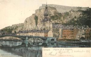 AK / Ansichtskarte Dinant_Wallonie Eglise et la Citadelle Dinant Wallonie