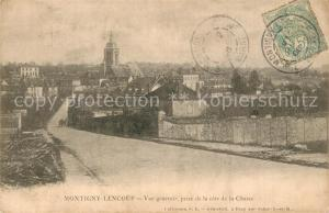 AK / Ansichtskarte Montigny Lencoup Vue generale prise de la cote de la Chasse Montigny Lencoup