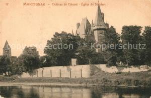 AK / Ansichtskarte Montignac_Dordogne Chateau de Clerant Eglise de St Leon Montignac Dordogne