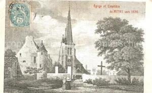 AK / Ansichtskarte Mitry Mory Eglise et Cimetiere Mitry Mory