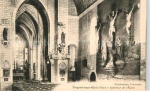 AK / Ansichtskarte Nogent sur Oise Interieur de l Eglise Nogent sur Oise