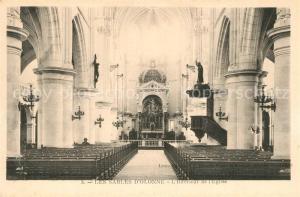 AK / Ansichtskarte Les_Sables d_Olonne Interieur de l Eglise Les_Sables d_Olonne