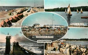 AK / Ansichtskarte Capbreton Plage Etablissement de Bains Estacade Phare Regates au Bouret
