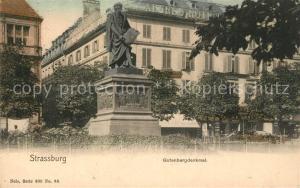 AK / Ansichtskarte Strassburg_Elsass Gutenbergdenkmal Strassburg Elsass