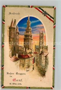 AK / Ansichtskarte Genf_Belgien Belfried Genf Belgien