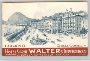 AK / Ansichtskarte Lugano_Lago_di_Lugano Hotel Garni Walter et Dependances Lugano_Lago_di_Lugano