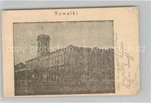 AK / Ansichtskarte Suwalki Gebaeude Suwalki