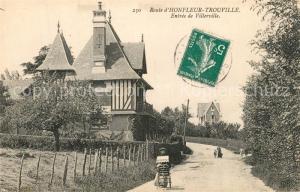 AK / Ansichtskarte Honfleur Entree de Villerville Honfleur
