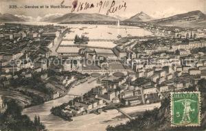 AK / Ansichtskarte Geneve_GE et le Mont Blanc Geneve_GE