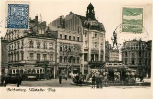 AK / Ansichtskarte Reichenberg_Liberec_Boehmen Altstaedter Platz