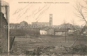 AK / Ansichtskarte Saint Benoit_Alpes de Haute Provence Vue d'ensemble apres le bombardement Saint Benoit