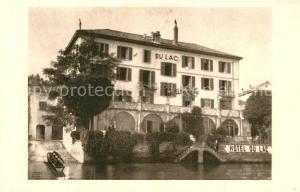 AK / Ansichtskarte Lugano_Lago_di_Lugano Hotel du Lac Lugano_Lago_di_Lugano
