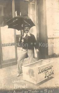 AK / Ansichtskarte Beverloo Landstm Brecht als August am Theater in Spa Beverloo