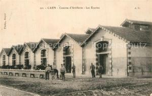 AK / Ansichtskarte Caen Caserne d'Artillerie Les Ecuries Caen