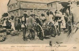 AK / Ansichtskarte Freetown_Sierra_Leone Troups Anglaises a Freetown 1914